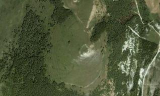 Castelliere di Monte Trella, veduta aerea