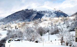Cesi e il Monte Trella, panorama invernale