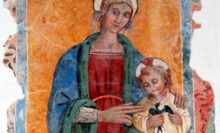 Altare maggiore, Madonna con Bambino di Paolo Bontulli (1520-1523)